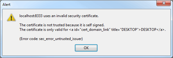 Error With Firefox Going To Localhost Vmware Infrastructure Web Access