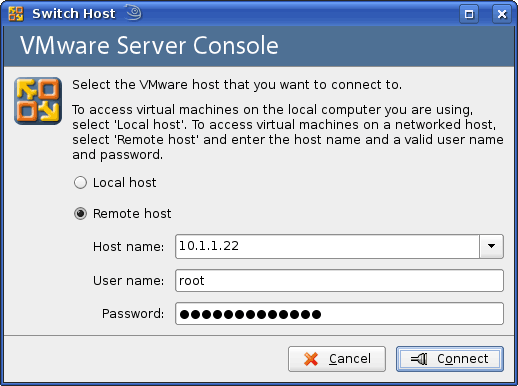 VMWare Server Console Connection Refused - Electric Toolbox